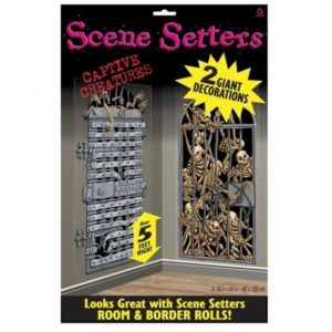 Scene Setters 2 Pack – Captive Creatures Halloween Party Decorations