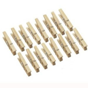 Fun Craft Wooden Pegs Pack 18