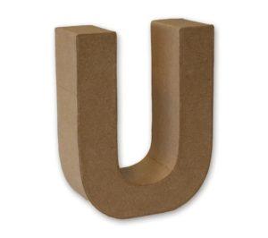 '3D Cardboard Letter U for Craft'