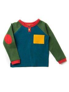 SALE Little Green Radicals Deep Blue Raglan T-Shirt Organic Cotton BNWT