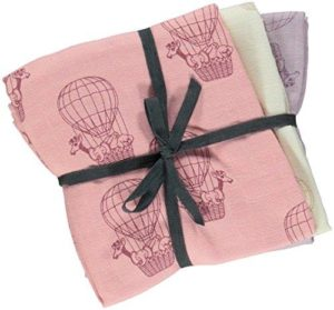 Smafolk Rose Burp Cloth/ Muslin Set of 3