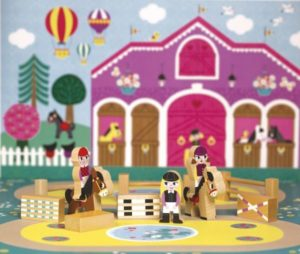 Janod Mini Riding School Story Pony Set
