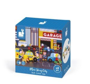 **NEW** Janod Mini City Story Wooden Figures Set Make Believe