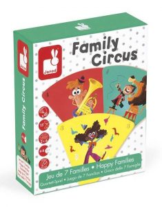 NEW Janod Happy Families Family Circus Game Childrens Educational Learning Game