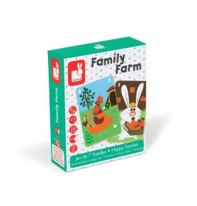 NEW Janod Happy Families Family Farm Game Childrens Educational Learning Game