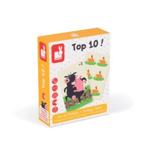 NEW Janod Top 10 ! Strategy Game Childrens Educational Maths Learning Game BNIB