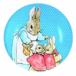 Melamine Beatrix Potter Rabbits Children's Plate