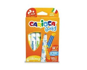 Carioca Baby 6 Various Markers Arts Crafts Colouring Suitable Under 3 years