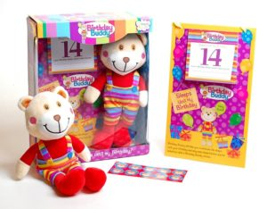 Ackerman Birthday Buddy Bear Countdown Reward Sticker Good Behaviour Toy