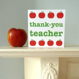 Toby Tiger Thank-you Teacher Card