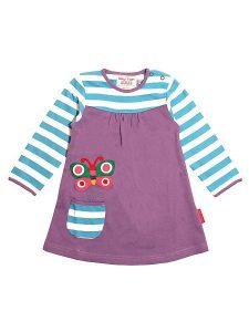 Toby Tiger Purple Butterfly Applique Long Sleeve T-Shirt Dress Age 3-4 Years (98/104cm)