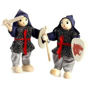 10cm POSEABLE WOODEN BATTLE KNIGHT