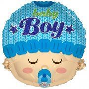 Kaleidoscope Brands New Baby Boy Face Foil Helium Balloon 18″