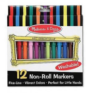 Melissa and Doug Pack of 12 Non-Roll Felt Tip Pens