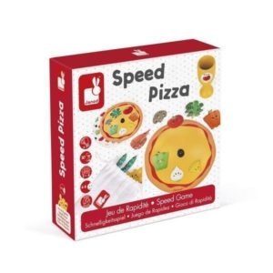 NEW Janod Wooden Speed Pizza Game Trophy Childrens Fun Family Game Educational