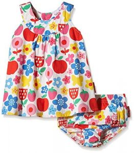 Toby Tiger Butterfly Flowers Baby Summer Party Dress Set