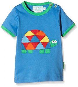 Toby Tiger Blue Tortoise Applique Short Sleeve T Shirt