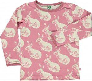 Smafolk Blush Pink Rabbit Print Long Sleeve Top 7-8 years (122-128cm)