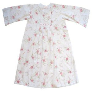 Powell Craft Handmade Jenny White with Pink Flower Nightdress