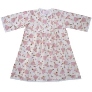Powell Craft Handmade Pink Ballerinas  Nightdress