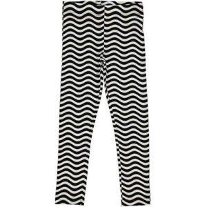 Maxomorra Black and White Waves Print Leggings