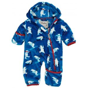 Hatley Blue Ski Monsters Fuzzy Fleece Bundler