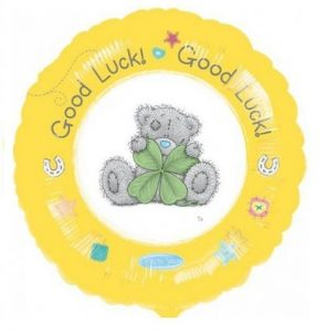 Me to You Tatty Teddy Good Luck Foil Helium Balloon Sold Flat / Uniflated