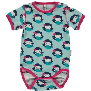 Maxomorra Light Blue Mermaid Short Sleeve Body