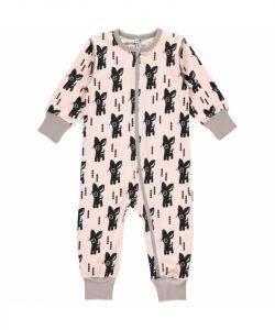 Maxomorra Pale Pink Bambi Zip Rompersuit