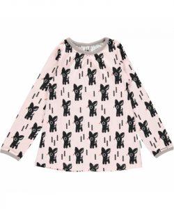 Maxomorra Pale Pink Bambi Print A Line Top