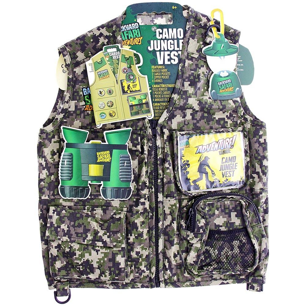 Backyard Safari Adventures Camo Jungle Vest