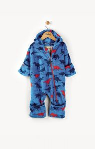 Hatley Blue Dinosaur Shapes Fuzzy Fleece Bundler
