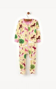 Hatley Yellow Pony Orchard Mini Footed Coverall