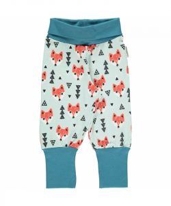 Maxomorra Plus Fox Print Rib Pants