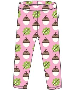 Maxomorra Pink Acorn Print Leggings