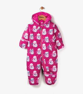 Hatley Pink Cuddly Penguins Winter Bundler