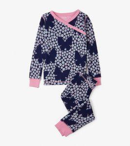 Hatley Navy Butterflies and Buds Pyjamas