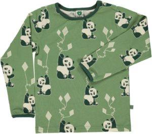 Smafolk Aspen Green Panda and Kites Long Sleeve Top