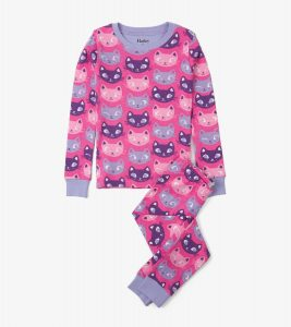 Hatley Pink Silly Kitties Pyjamas