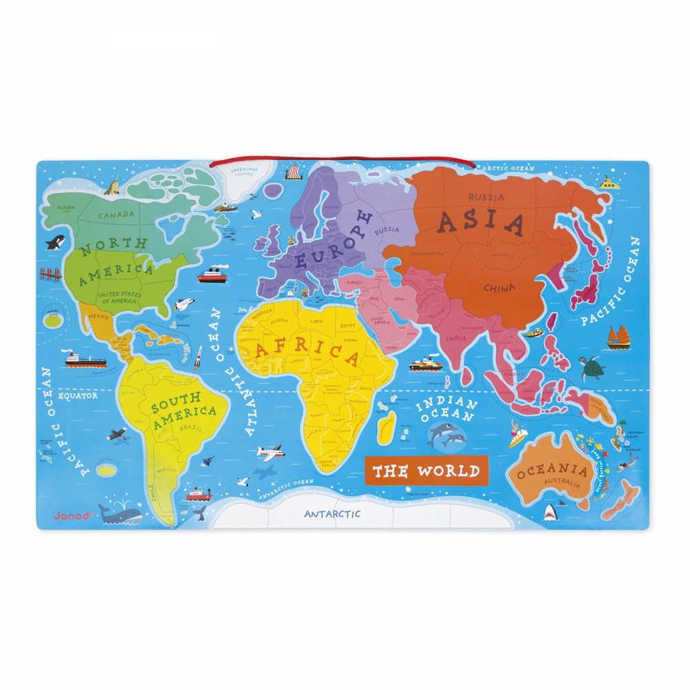 Janod magnetic world map puzzle english version catfish kids gumiabroncs Choice Image