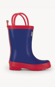 Hatley Navy and Red Rainboots