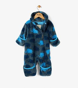 Hatley Woolly Mammoth Fuzzy Fleece Bundler