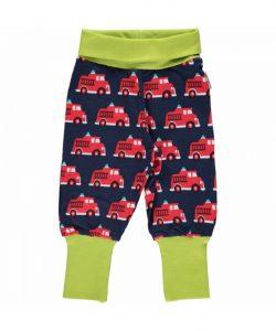 Maxomorra Fire Truck Rib Pants