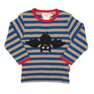 Toby Tiger Bat Applique Long Sleeve T-Shirt