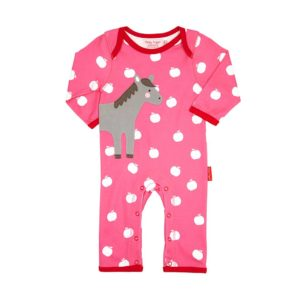 Toby Tiger Horse Applique Sleepsuit