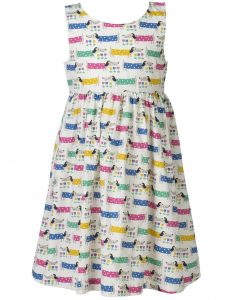Frugi Cream Dotty Dogs Porthcurno Party Dress