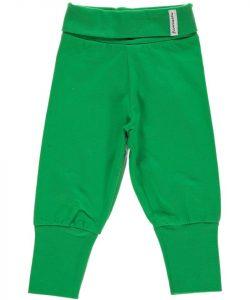 Maxomorra Basic Green Jersey Rib Pants