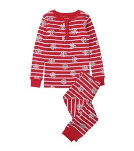 Hatley Candy Cane Waffle Henley Pajamas