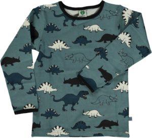 Smafolk Bluestone Dinosaur Print Long Sleeve Top