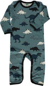 Smafolk Bluestone Dinosaur Print Sleepsuit